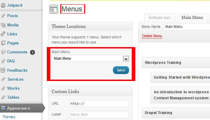 wordpress-menu