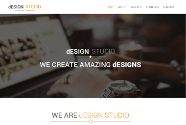 Design Studio One Page –  PSD Boostrap Template